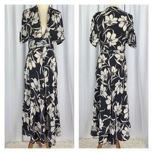 Christy Dawn Silk Maxi Dress Floral Print